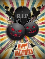 Card for Halloween. Vector illustration.