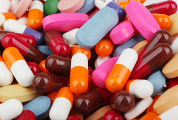 Pills Of Many Shapes Grouped Together