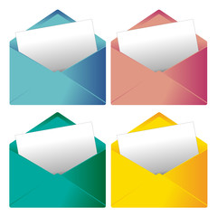 Enveloppe, courrier, mailing, email, envoi, marketing