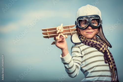 Pilot with plane