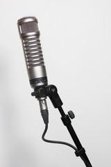 Condenser microphone on white
