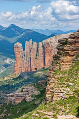 Mallos of Riglos in Huesca, Spain