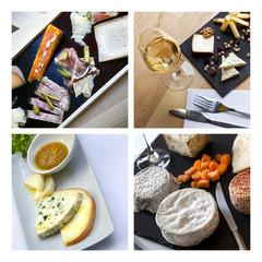 Fromage, plateau, laitier, plateau de fromages, vin