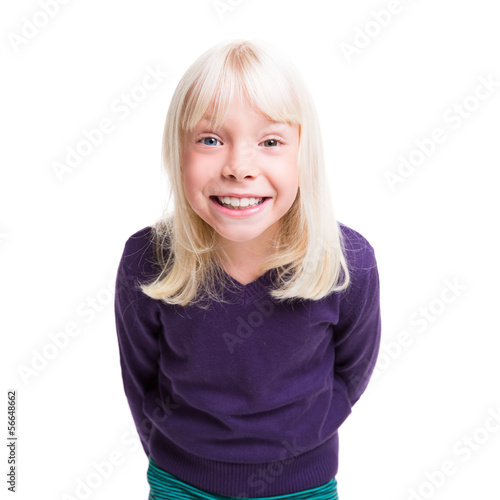 canvas print picture glückliches kleines Mädchen