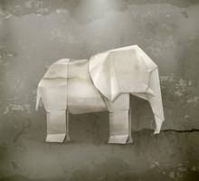 Origami éléphant, style ancien