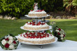 Wedding cake with strawberry