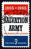 Postage stamp USA 1965 Salvation Army poster