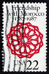 Postage stamp USA 1987 Arabesque, Dar Batha Palace, Fez