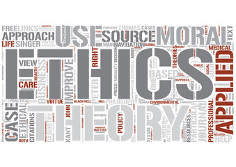 Applied ethics Word Cloud Concept