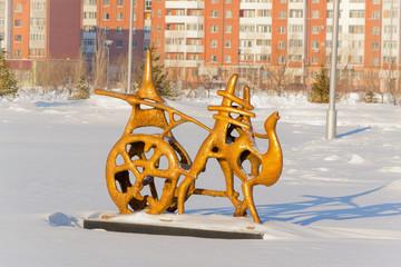 Астана, абстрактная фигура верблюда с арбой