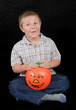 boy with the pumpkin
