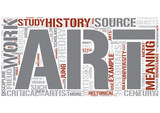 Art history Word Cloud Concept