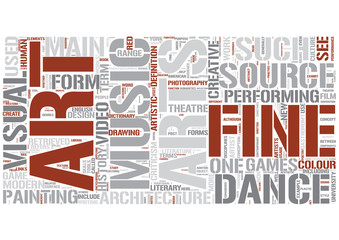 Arts Word Cloud Concept
