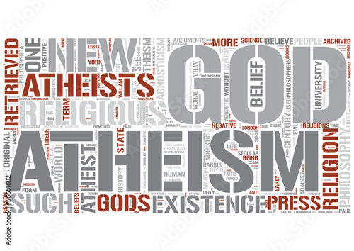 Atheism Word Cloud Concept