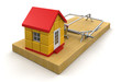 Mousetrap and house (clipping path included)
