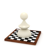 Big pawn on chessboard