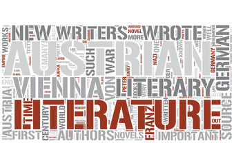 Austrian literature Word Cloud Concept