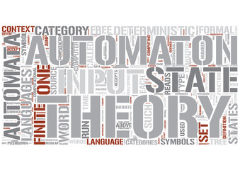 Automata theory Word Cloud Concept