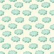 clouds shabby seamless pattern, vector illustration