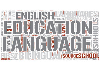 Bilingual education Word Cloud Concept