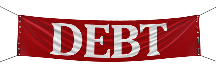 debt  Banner (clipping path included)