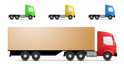 Cargo truck illustration