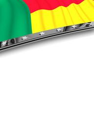 Designelement Flagge Benin