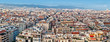 Panorama of Barcelona houses from Sagrada Familia