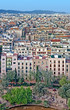 Aerial view of Barcelona from Sagrada Familia