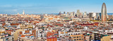 Panorama of Barcelona with the Torre Agbar