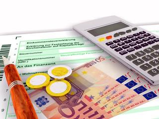 Steuerformular fünfzig Euro