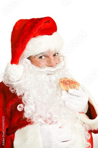 Santa Eating Christmas Cookie