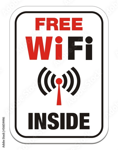 free wi-fi inside sign