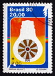 Postage stamp Brazil 1980 Windmill Inside Light Bulb