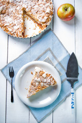 Delicious apple pie with sweet crumble