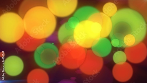 Multicolored Bokeh Abstract Motion Background