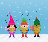 Muliticultural Children Carolers