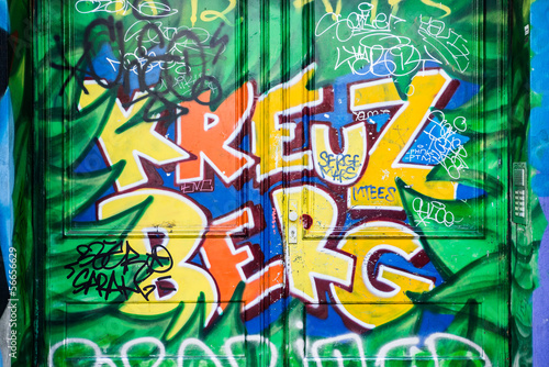 Fotobehang Berlijn Kreuzberg graffiti in Berlin, Germany