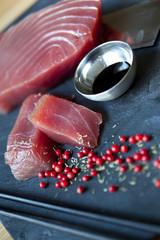 Thon, poisson, cru, japon, japonais, épices, asie, sauce