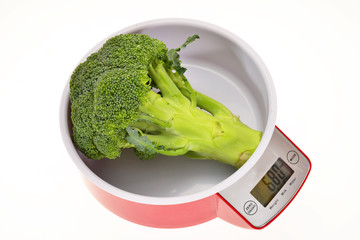 Kitchen Weighing Scale With Broccoli