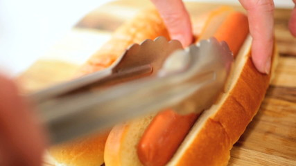 Traditional American Hot Dog Snack Food