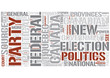 Canadian politics Word Cloud Concept