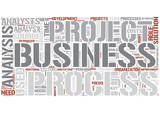 Business analysis Word Cloud Concept