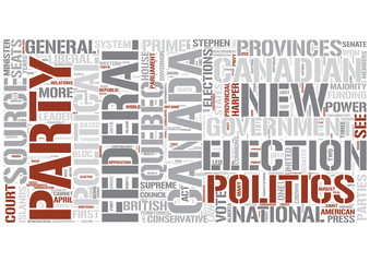 Canadian politics Word Cloud Concept