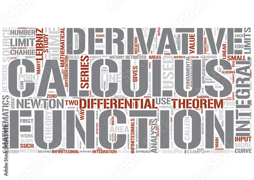Calculus Word Cloud Concept