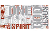 Christian Theology Word Cloud Concept