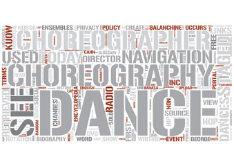 Choreography Word Cloud Concept