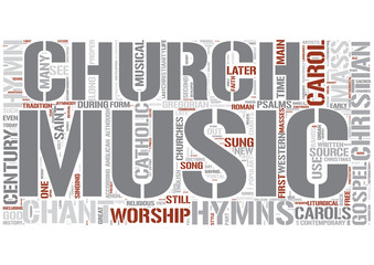 Church music Word Cloud Concept