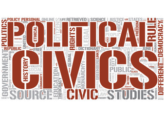 Civics Word Cloud Concept