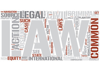 Civil law (common law) Word Cloud Concept